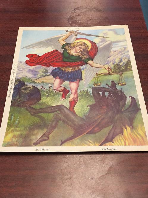 St Michael picture 8x10