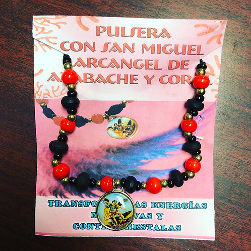 St. Michael bracelet with Azabache