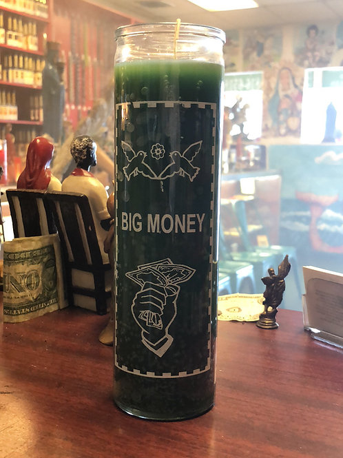 Big money/grande dinero vela 7-day  candle