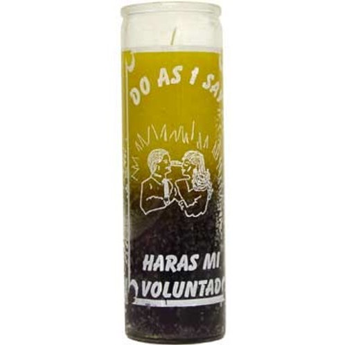 DO AS I SAY / HARAS MI VOLUNTAD 7 DAY GLASS CANDLE