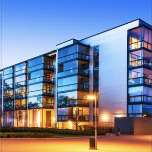 Modern apartment building.