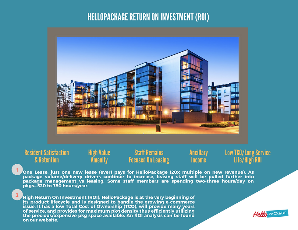 HelloPackage Sales Presentation (pg 20),