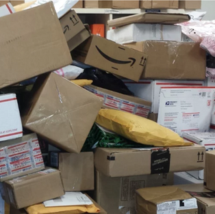 Picture of the package mess.