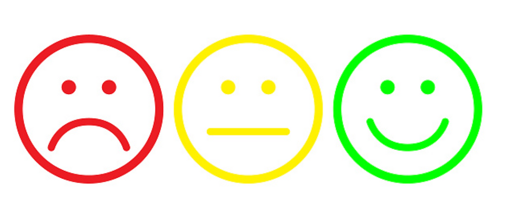 frown neutral smile wellbeing check