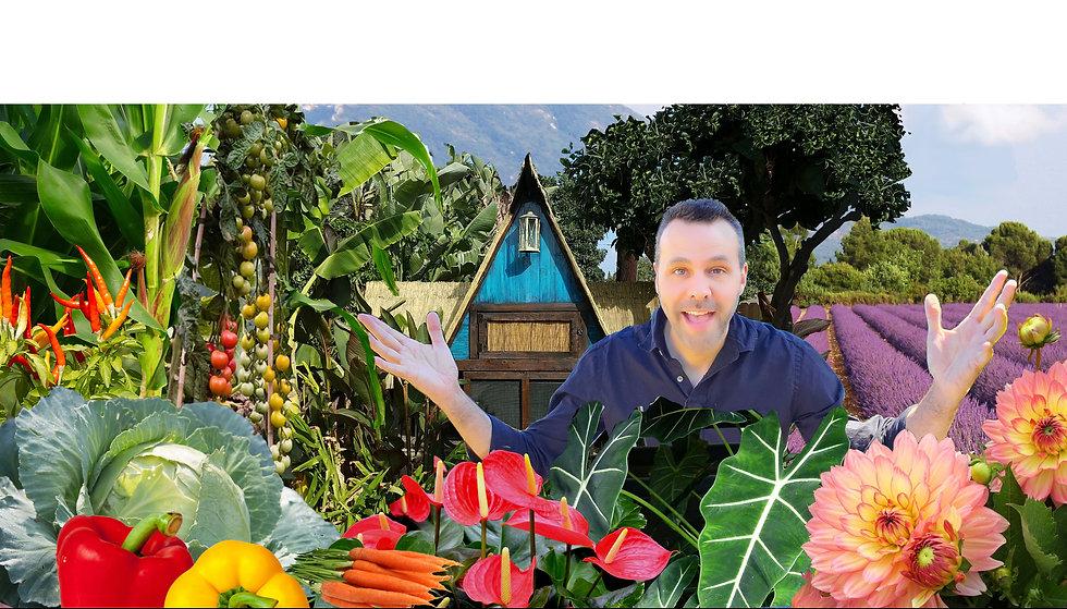 Brian and his garden