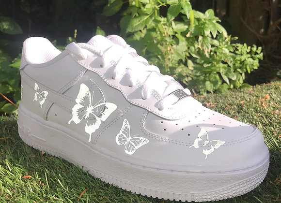 Custom Reflective Butterfly Nike Air Force 1's