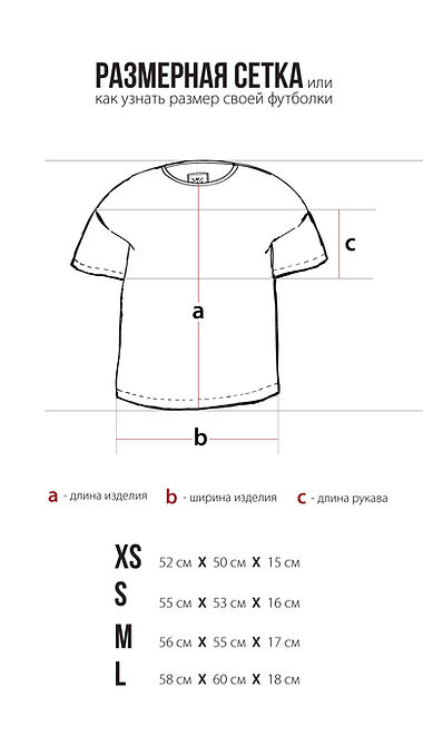 Размерная сетка футболок