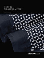 Front cover of XSENSOR's Test & Measurement Product Catalog shows an LX100:40:40 seat sensor and is available for download.