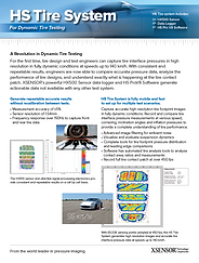 Front cover of XSENSOR's High-Speed Tire Testing System brochure for Intelligent Dynamic Sensing for dynamic tire testing.
