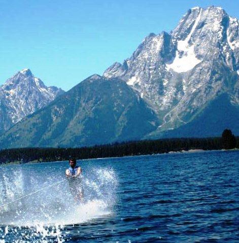 Water Skiing on Jackson Lake