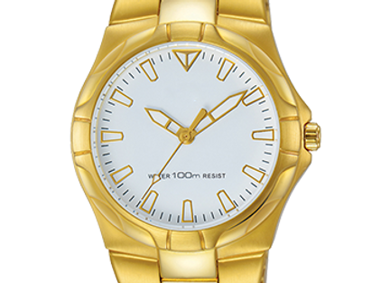 Shiny Golden Casual Watch For Mens