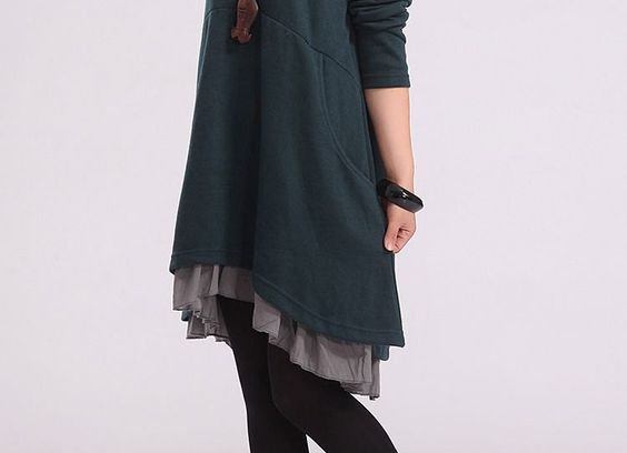 Cotton dress casual loose large size