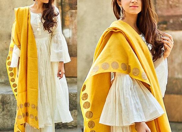 Classy Yellow Khadi Kurta Salwar