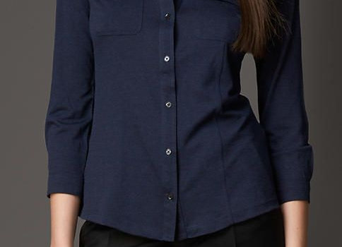 Women's Shirts & Tops Refined Through Pattern and proportion in silk