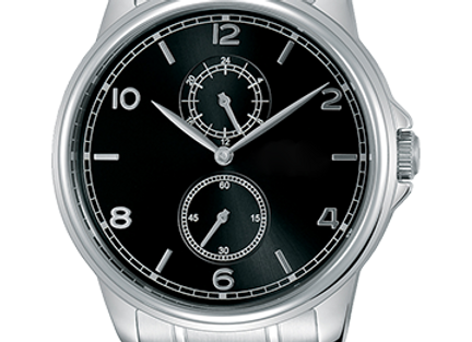 Silver Machine Watch with Black Dial