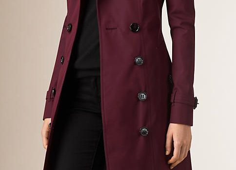 Women Slim Maroon Overcoat