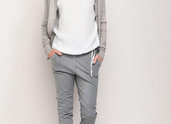 Grey Trouser & White Top Stylish Women's Outlooks