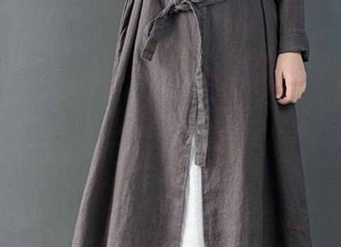 Vintage Chinese Style Cotton Linen Women Coat For Winter