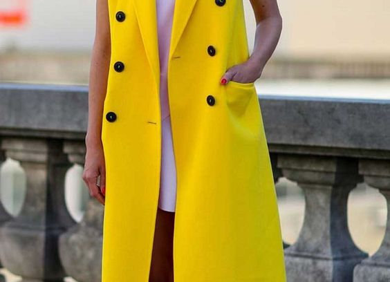 Yellow Relaxed Fit Belted Trench Mustard Dress