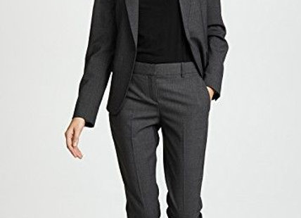 Black Casual Blazer Suit For Womens