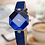 Thumbnail: Colourful Crystal Design Watch For Women