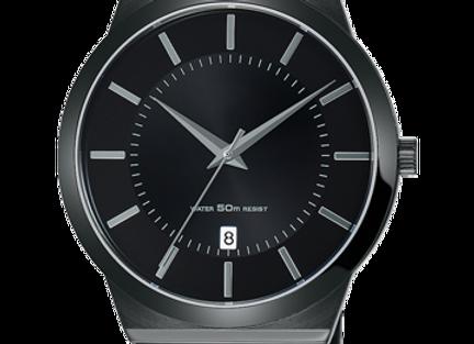 Full Black Stainless Steel Men's Watch