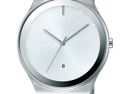 Stunning White Dial Stainless Steel Watch