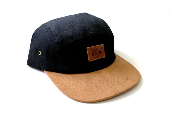 Brown Suede 5-panel Hat