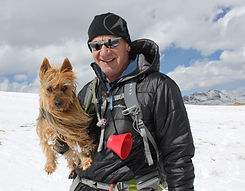Rick Crandall and Emme the Aussie.JPG