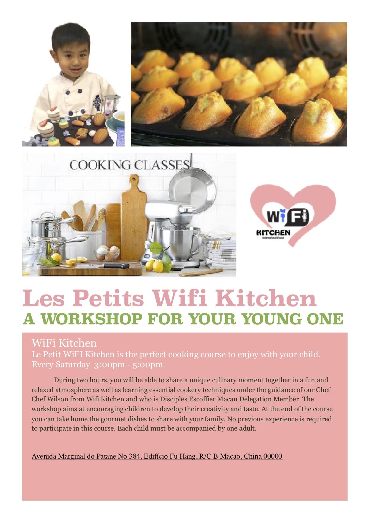 WiFi Kitchen Kid workshop flyer