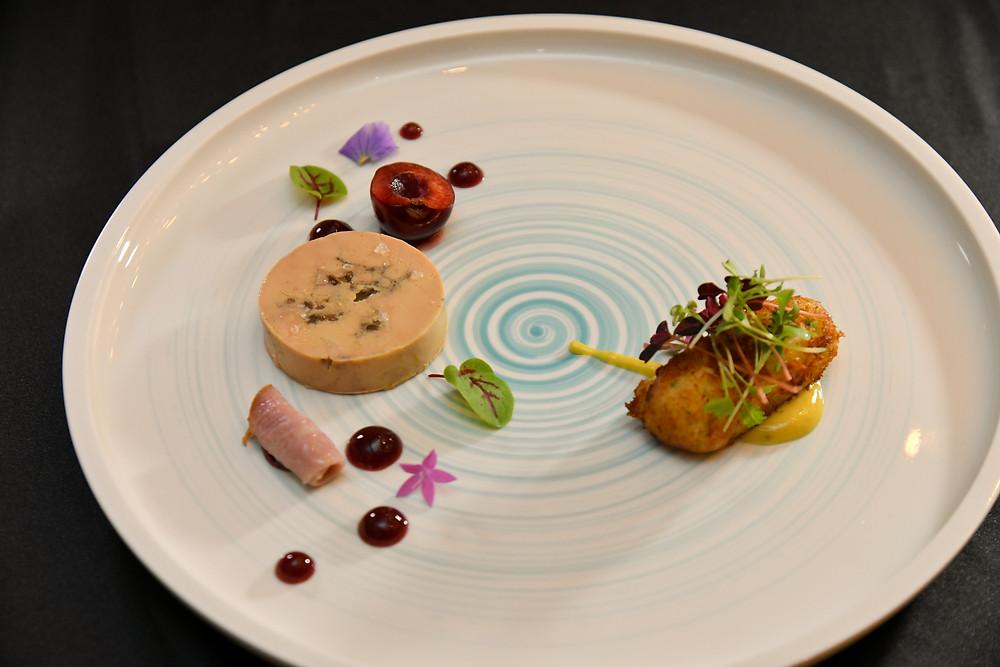 croquettes de bacalhau salée de foie gras ganache