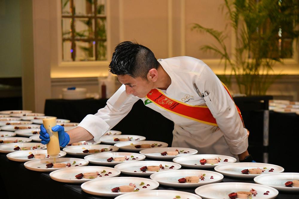 Presenting Macau cuisine at Escoffier Singapore Gala Dinner