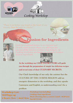 Cooking workshop flyer