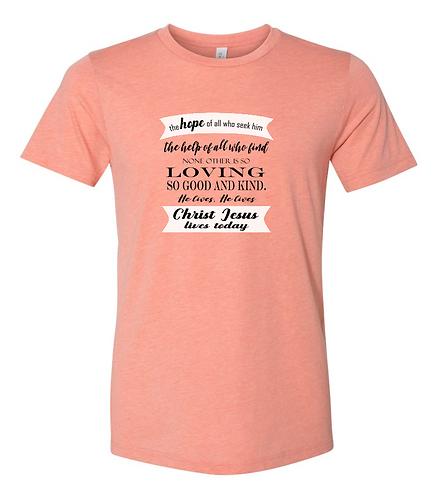 He Lives Unisex Triblend T-Shirt