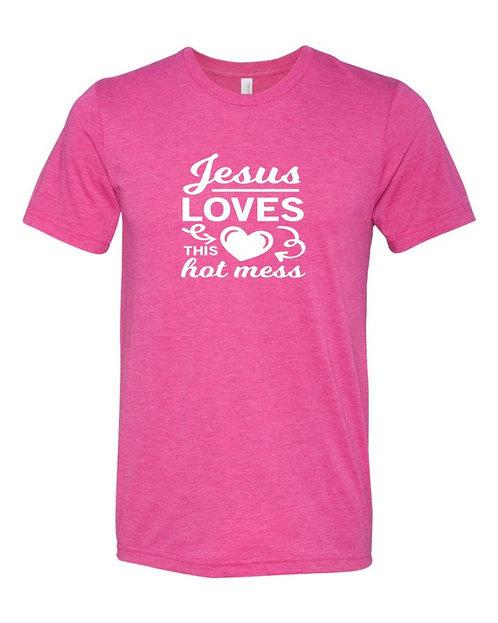 This Hot Mess Unisex Triblend T-Shirt