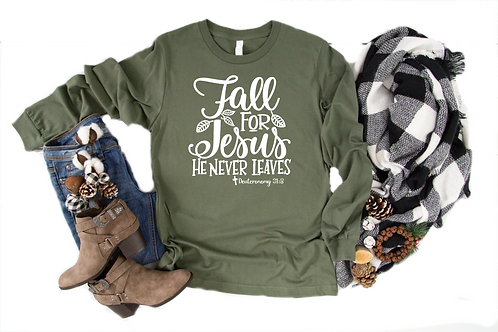 Fall For Jesus Long Sleeve