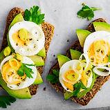 Sandwich With Avocado, Egg And Leek