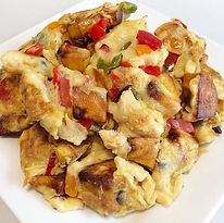 Fried plantain & egg combined by Yummieliciouz Food Recipes