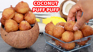 Coconut puff puff