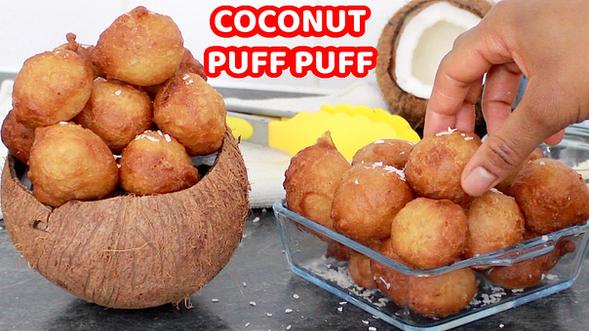 Coconut puff puff