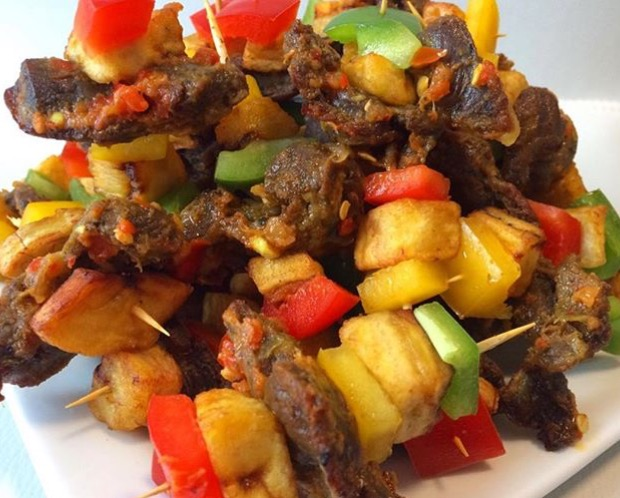 Peppered dodo-gizzard on stick