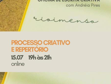 Oficina de Escrita Criativa sobre Rio Imenso na Concha Editora
