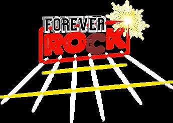 Forever Rock Logo. Es ist ein Musical.