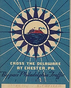 1941 CHESTER-BRIDGEPORT FERRY Map Delawa
