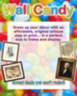 sale poster for wall candy