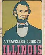 1968 STANDARD OIL Pictorial Map ILLINOIS