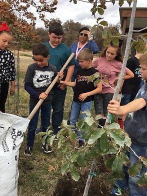 NOV 6 2019 4th Graders planting tree.[19