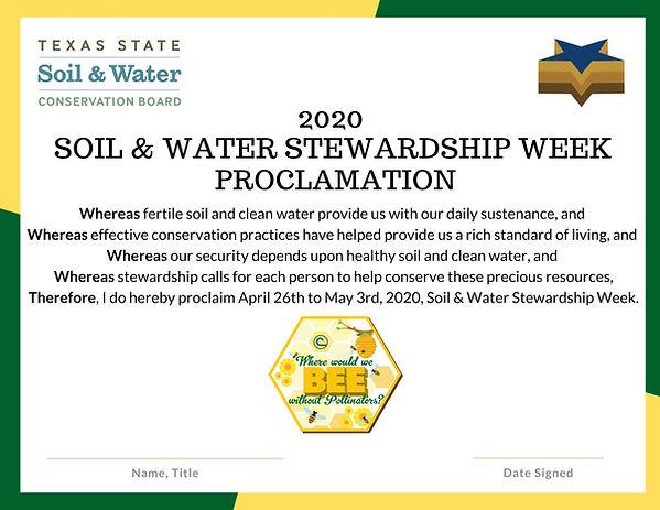 2020 SOIL STEWARDSHIP WEEK PROCLAMATION.