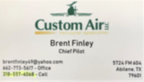 BRENT FINLEY BIZ CARD REC'D VIA TEXT MAR