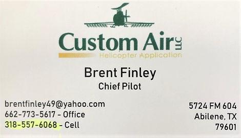 BRENT FINLEY BIZ CARD REC'D VIA TEXT MAR